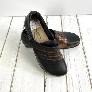 NAOT Size 39 Slip On Black and Copper Shoes